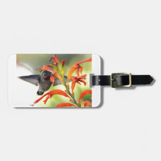 Hummingbird with Lily Caught In Motion Travel Bag Tag