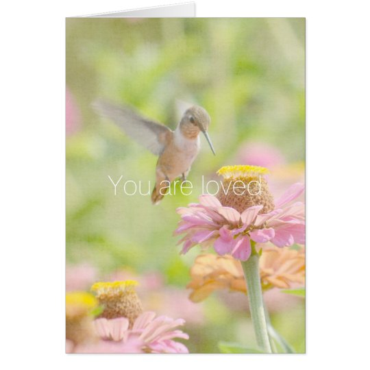 Hummingbird You are Loved Card