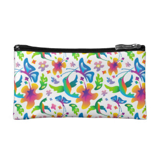 Hummingbirds and butterflies cosmetic case cosmetic bags