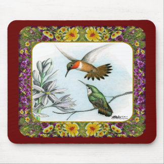 Hummingbirds and Flowers 2 Mousepads