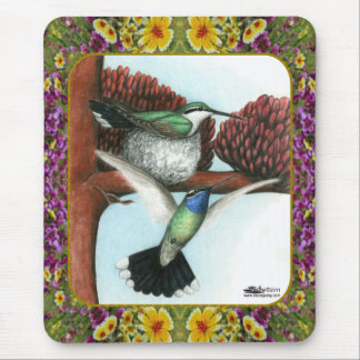 Hummingbirds and Flowers 3 Mousepad