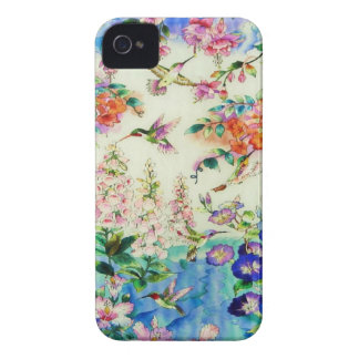 Hummingbirds and Flowers Case-Mate Case for iPhone