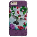 Hummingbirds and Flowers Purple