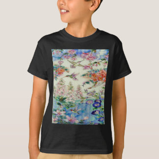 Hummingbirds and flowers stained glass WOW T-Shirt