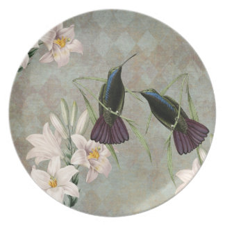 Hummingbirds and Lilies Plate