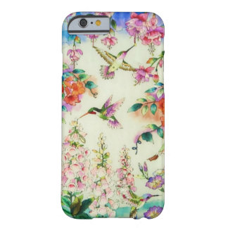 Hummingbirds and Pink Flowers iPhone 6 case