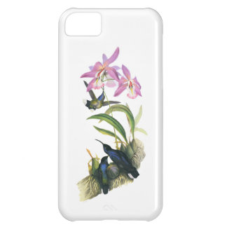 Hummingbirds and Pink Orchids iPhone 5C Cover