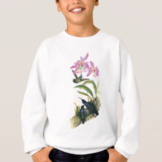 Hummingbirds and Pink Orchids Sweatshirt
