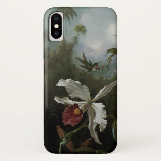 Hummingbirds and White Orchid by Martin J. Heade iPhone X Case