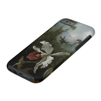 Hummingbirds and White Orchid by Martin J. Heade Tough iPhone 6 Case