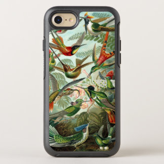 Hummingbirds by Ernst Haeckel, Vintage Birds Trees OtterBox Symmetry iPhone 8/7 Case