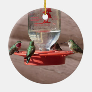 Hummingbirds Circle Ornament