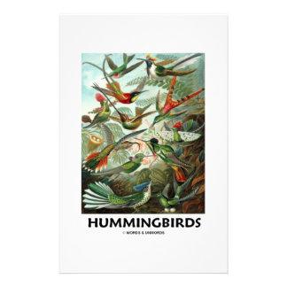 Hummingbirds Customized Stationery