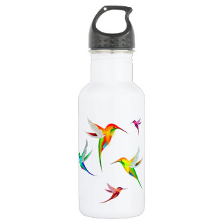 Hummingbirds Flock Cute - Colorful Bird Watching 532 Ml Water Bottle