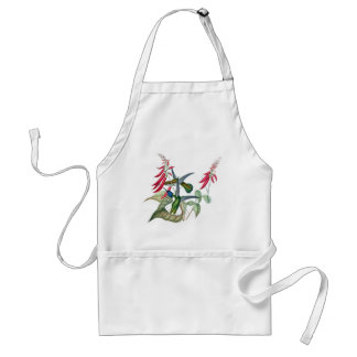 Hummingbirds Flowers Birds Wildlife Animals Apron
