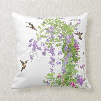 Hummingbirds Flowers Pillow