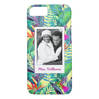 Hummingbirds In Jungle | Add Your Photo & Name iPhone 8/7 Case