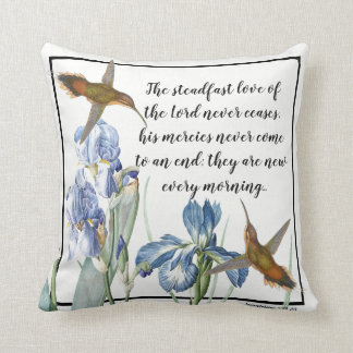 Hummingbirds Iris Flowers Gods Love Throw Pillow