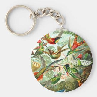 Hummingbirds Basic Round Button Key Ring