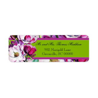 Hummingbirds Magnolias Personalized Address Labels
