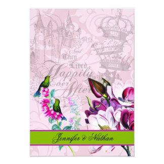 Hummingbirds Magnolias RSVP Card Invite