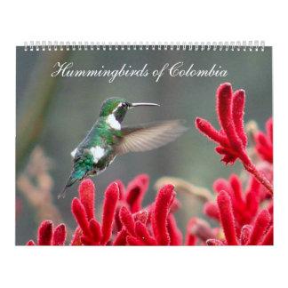 Hummingbirds of Colombia Calendar