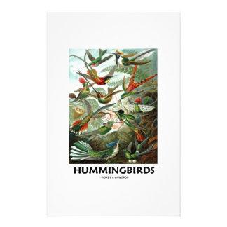 Hummingbirds Personalized Stationery