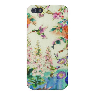 Hummingbirds Pink Flowers iPhone Case WOW Cover For iPhone 5/5S