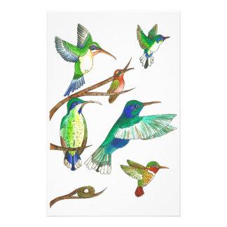 Hummingbirds Stationery