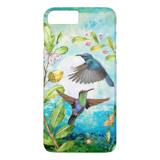 Hummingbirds Sunrise Watercolor Nature Lover Art iPhone 8 Plus/7 Plus Case