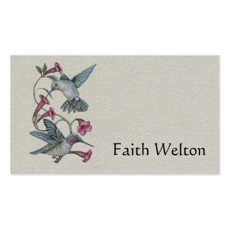 Hummingbirds & Vine Pack Of Standard Business Cards