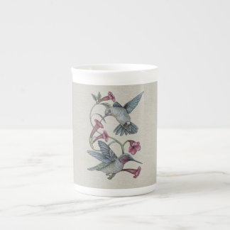 Hummingbirds & Vine Tea Cup