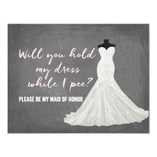Humor Bride | Bridesmaid 11 Cm X 14 Cm Invitation Card