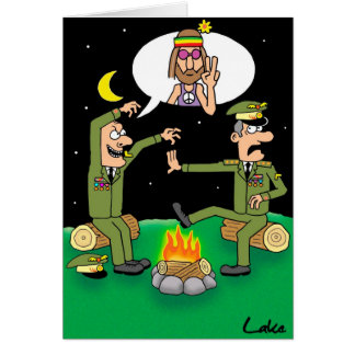 """Humor In Uniform"" funny Miltary  joke card. Card"