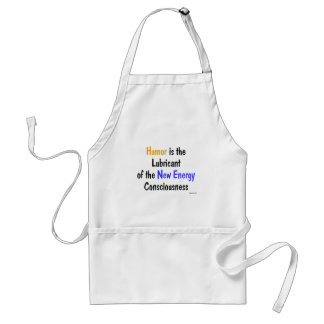 Humor is the lube standard apron