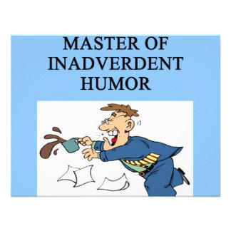 HUMOR master comedian Custom Announcement