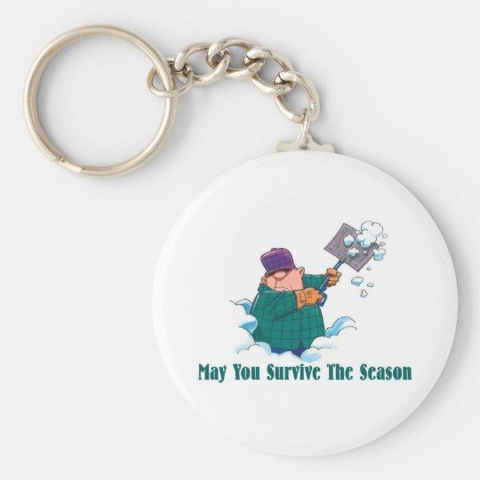 HUMOR: May You Survive Holiday Season Basic Round Button Key Ring