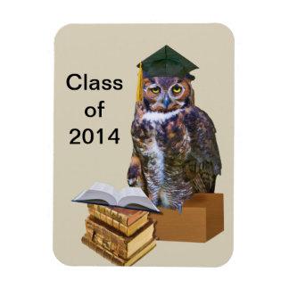 Humorous 2014 Graduation Owl Customizable Rectangular Photo Magnet