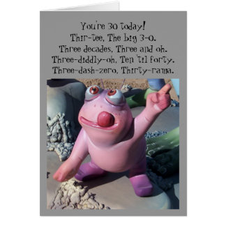 Humorous 30th Birthday Card Comic Figure