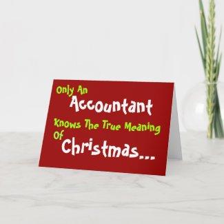 Humorous Accountant Christmas Card card