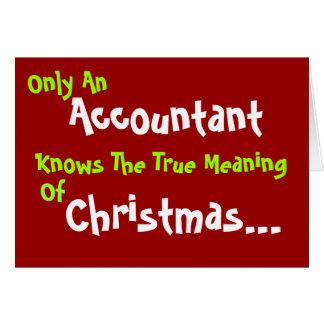 Humorous Accountant Christmas Card