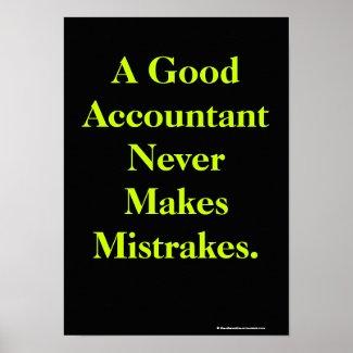 Humorous Accountant Poster