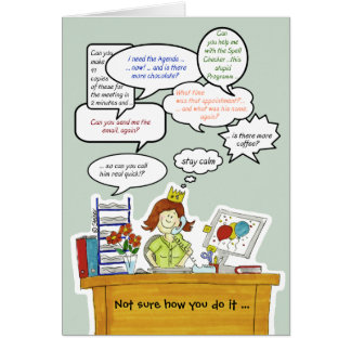 Humorous Administrative Professionals Day /Secreta Card