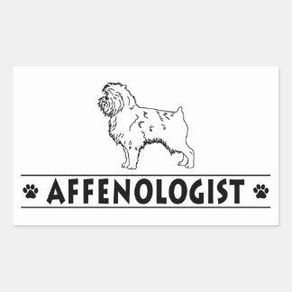 Humorous Affenpinscher Dog Rectangle Sticker