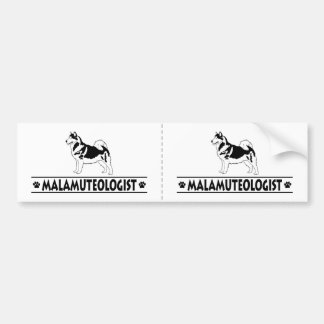 Humorous Alaskan Malamute Bumper Sticker