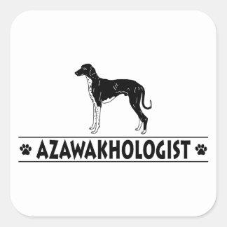 Humorous Azawakh Dog Square Sticker