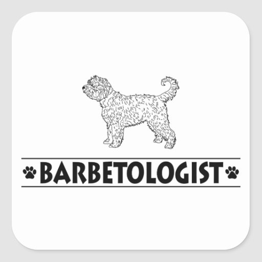 Humorous Barbet Sticker