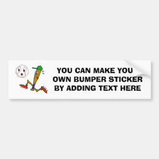 Humorous Baseball T-shirts and Gifts Bumper Sticker