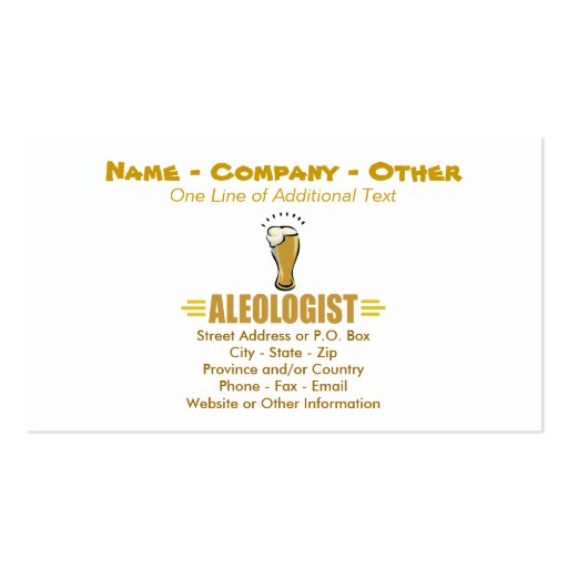 Humorous Beer, Ale Business Cards