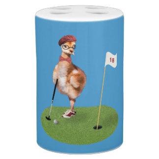 Humorous Bird Playing Golf Bathroom Sets